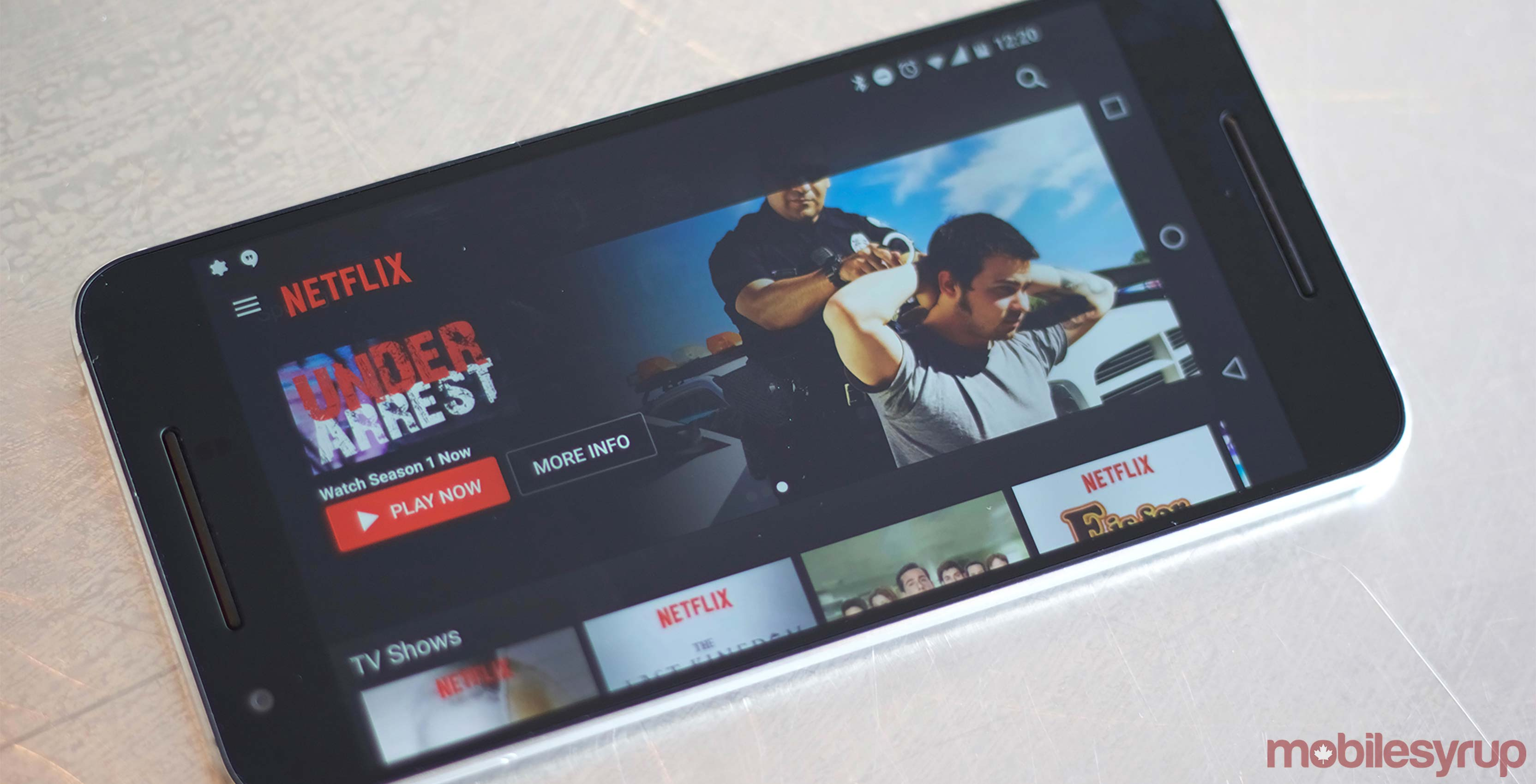 Netflix app on Android