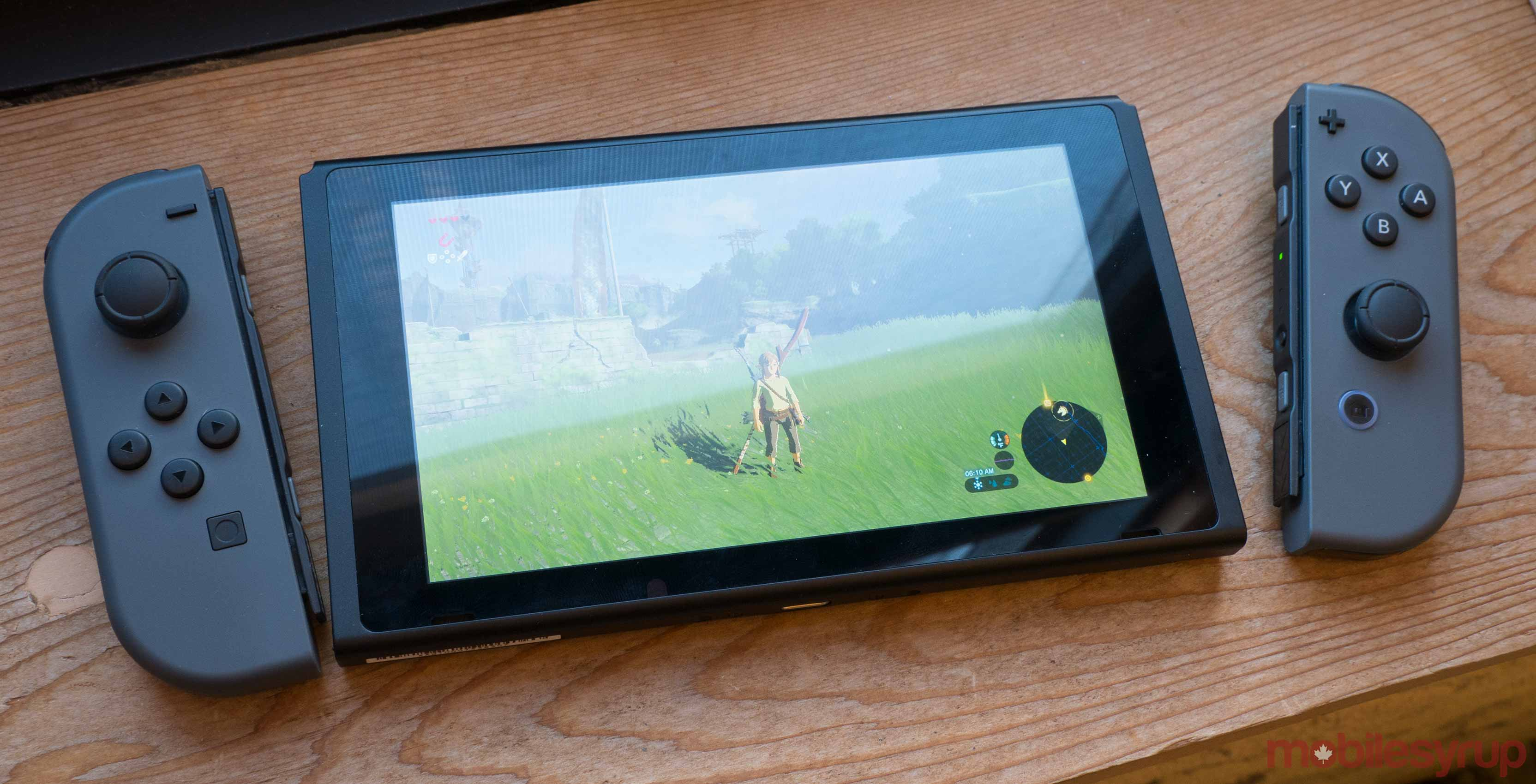 Nintendo Switch playing Breath of the Wild