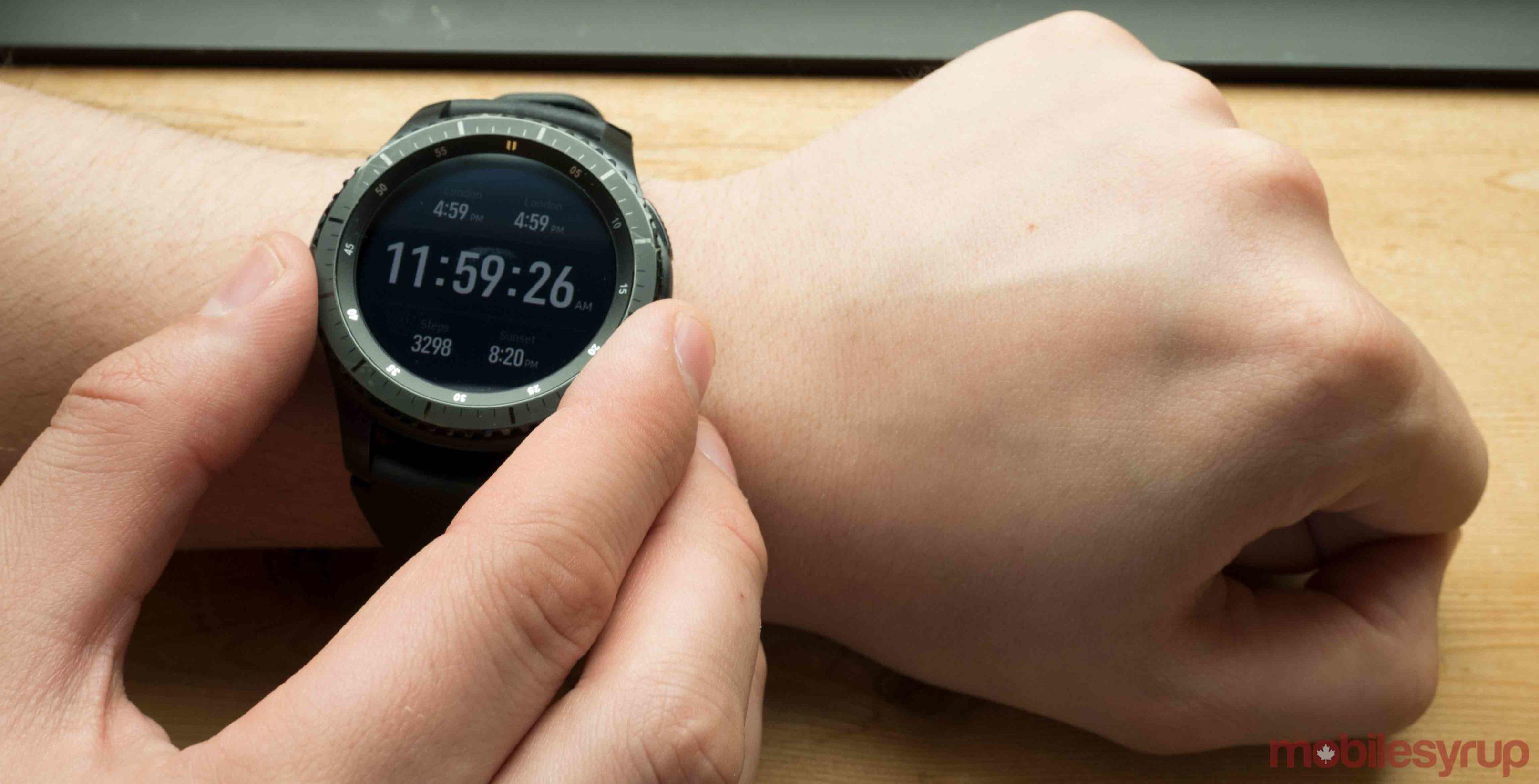 Samsung Gear S3 on wrist