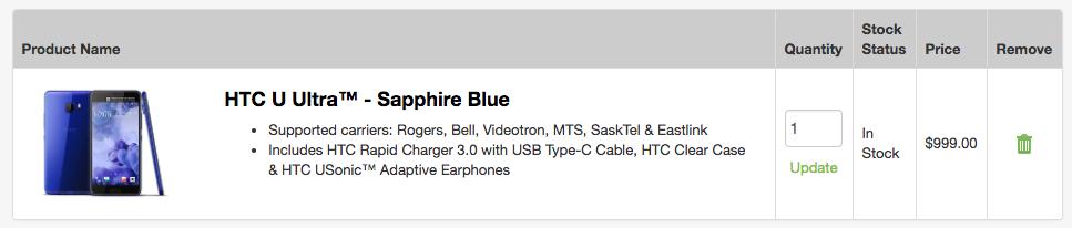 HTC U11 pricing
