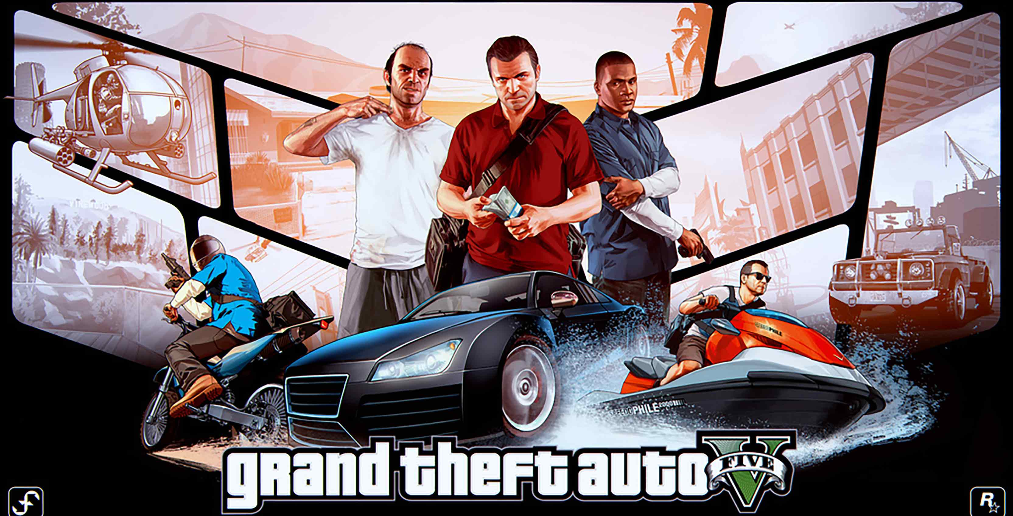 GTA V poster Trevor, Michael, Franklin