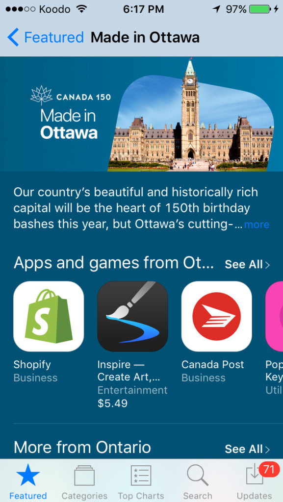 Made in Ottawa App Store