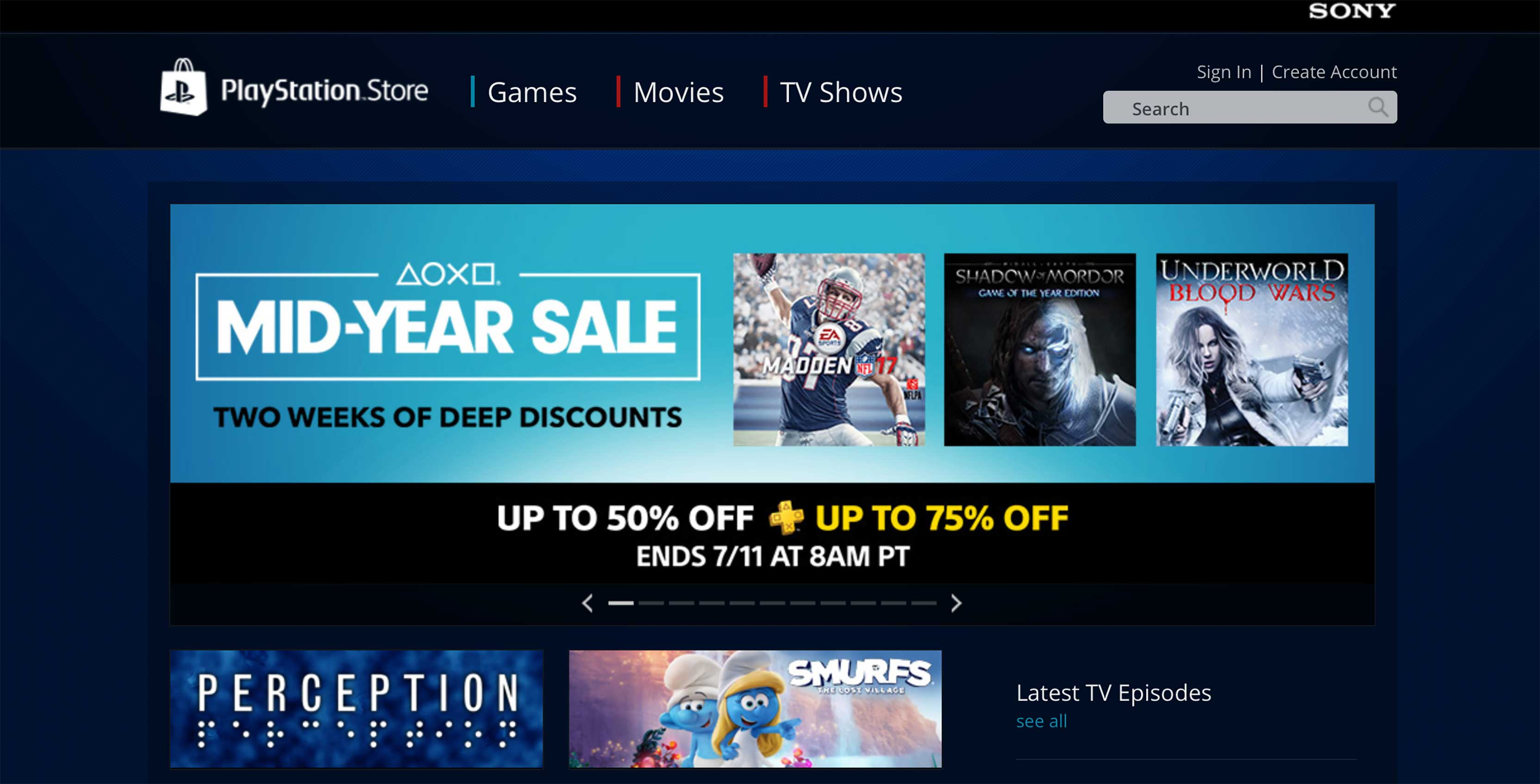PlayStation Store digital games