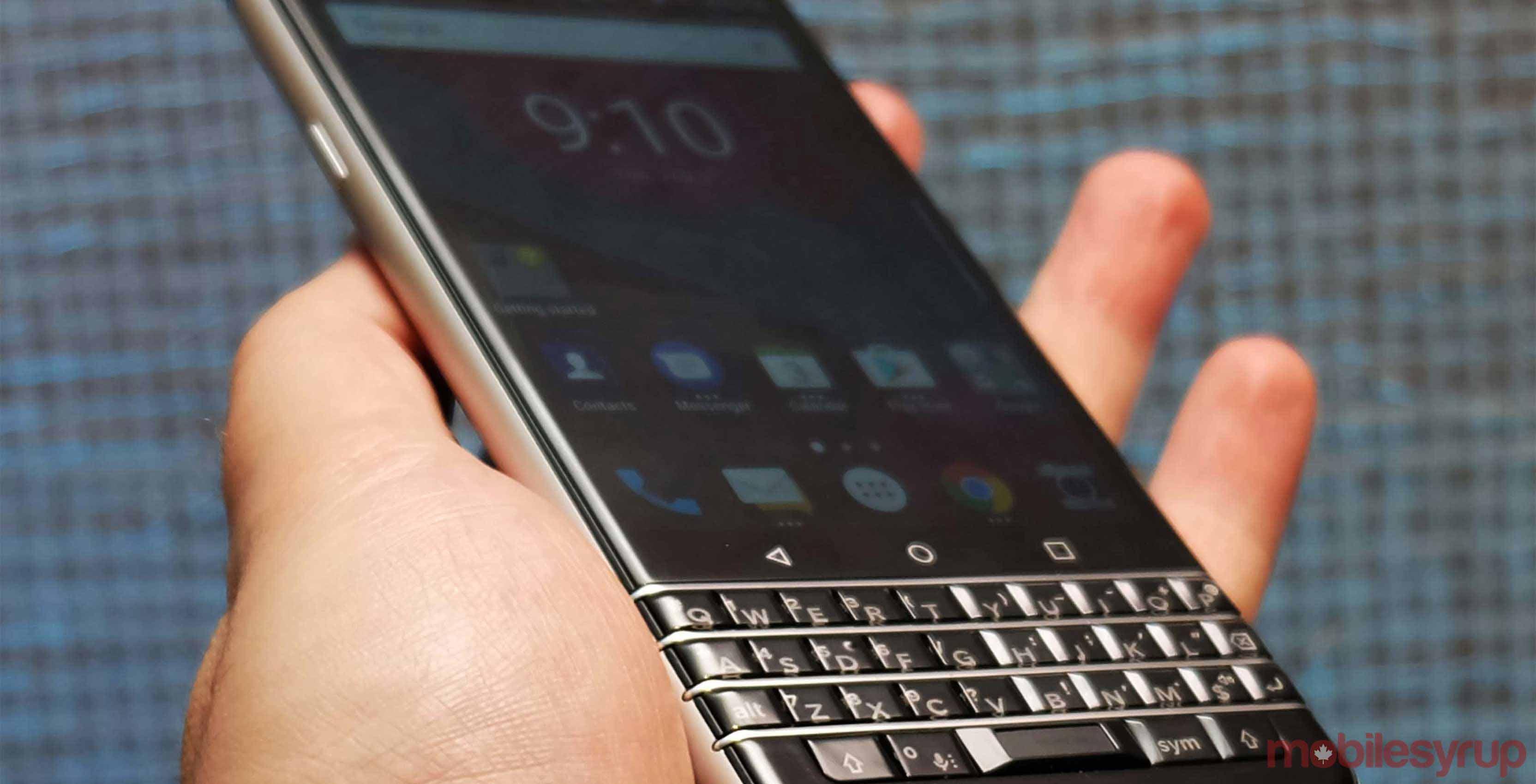 BlackBerry KEYone in hand