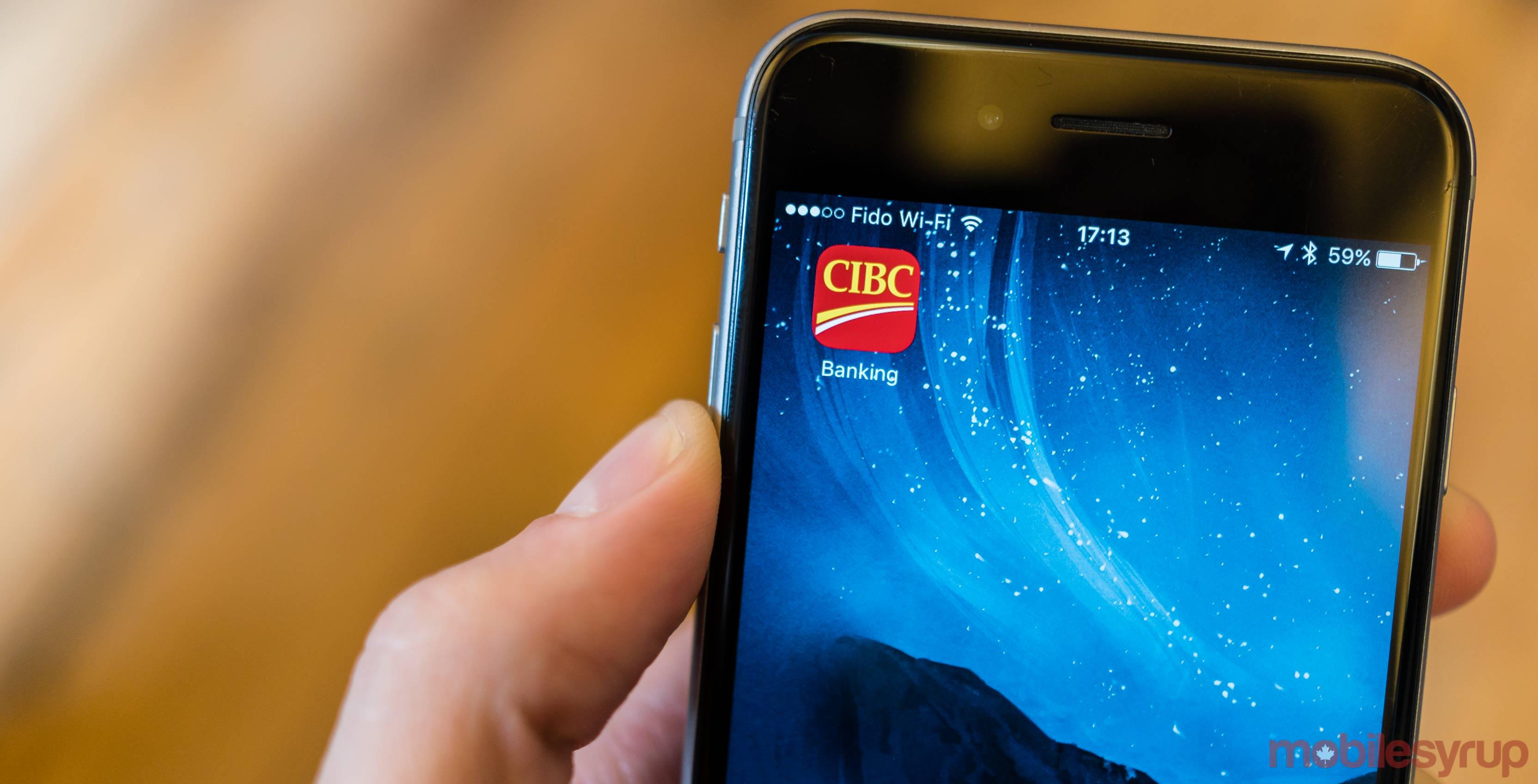 CIBC Mobile Banking app icon on iOS