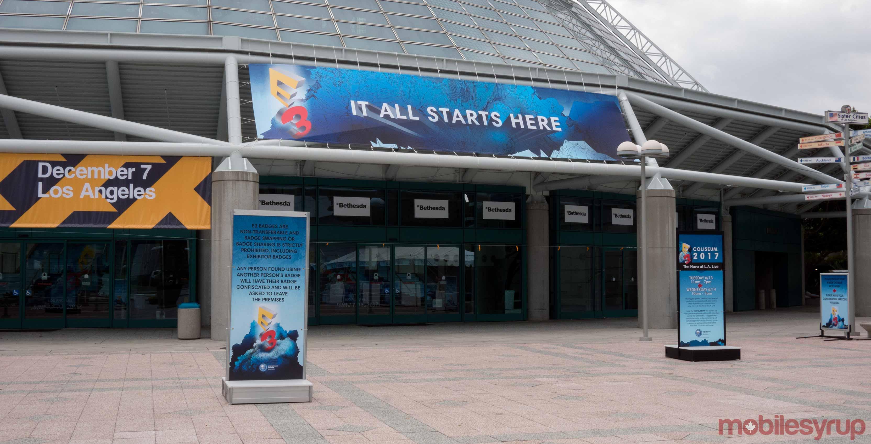 E3 2017 entrance