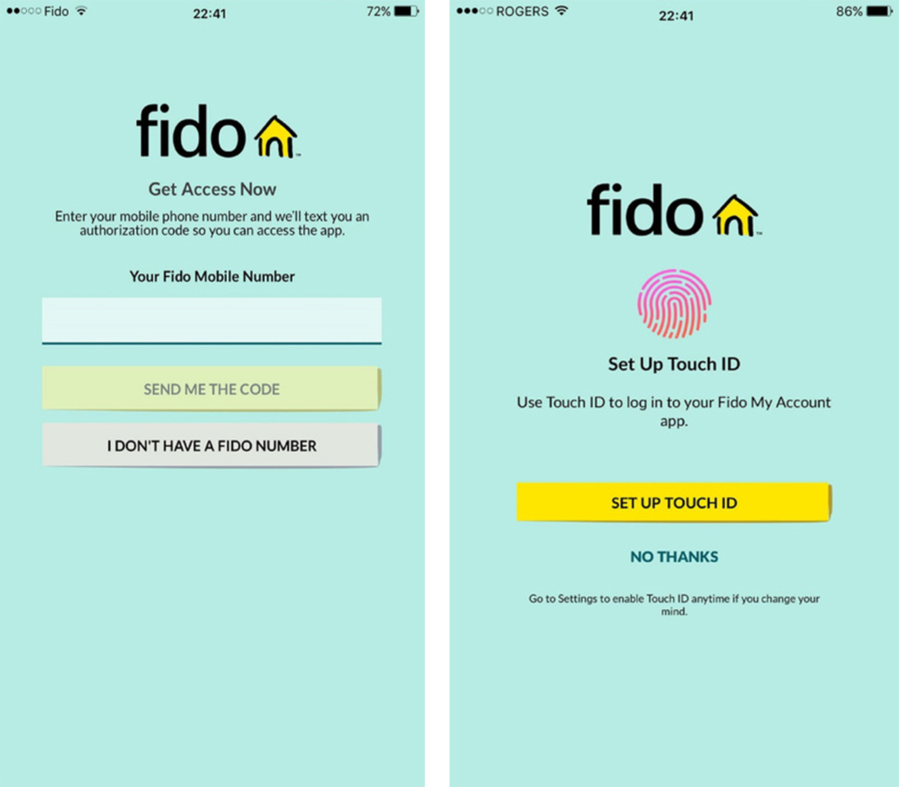 Updated Fido My Account App