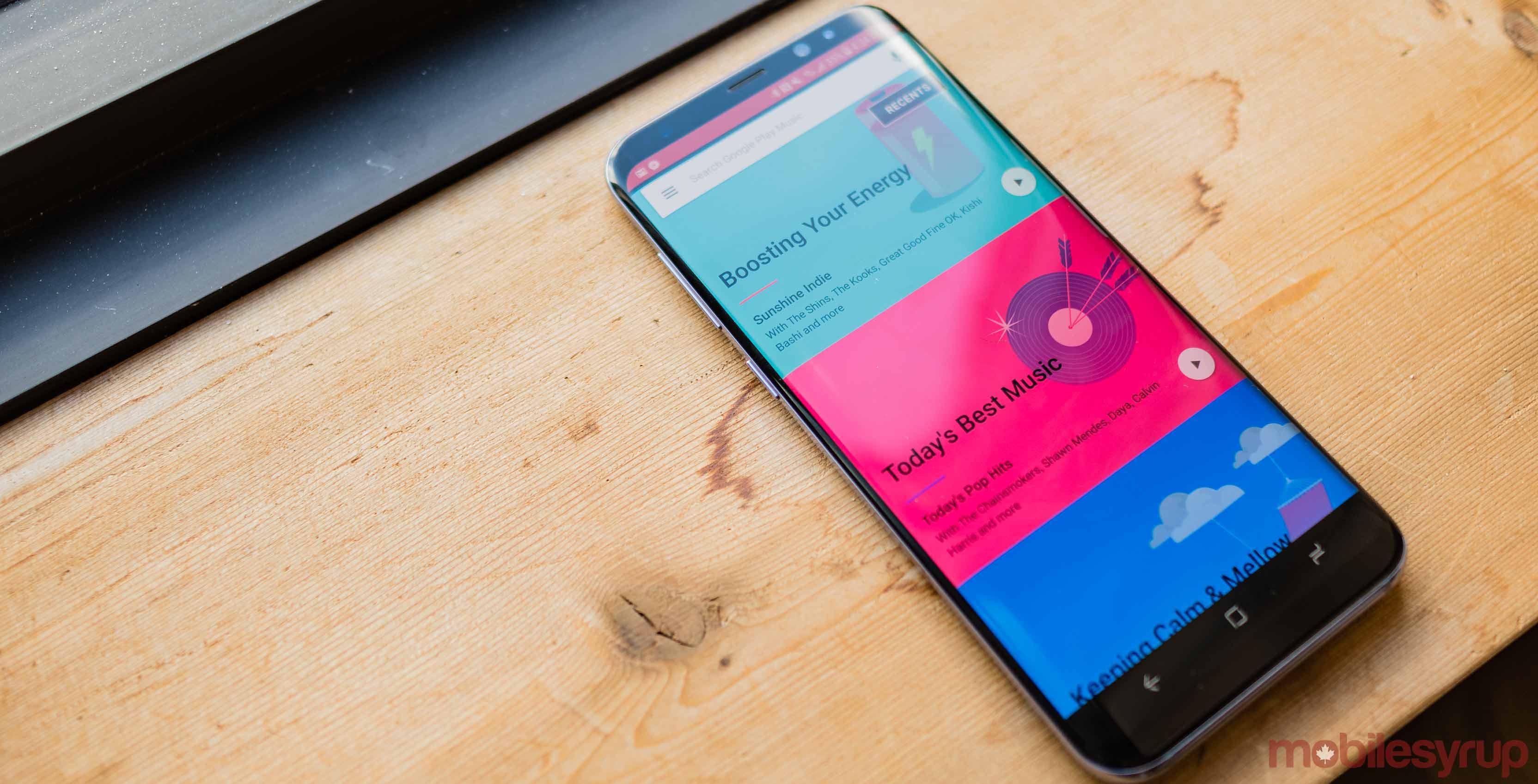 Samsung Galaxy S8 Google Play Music