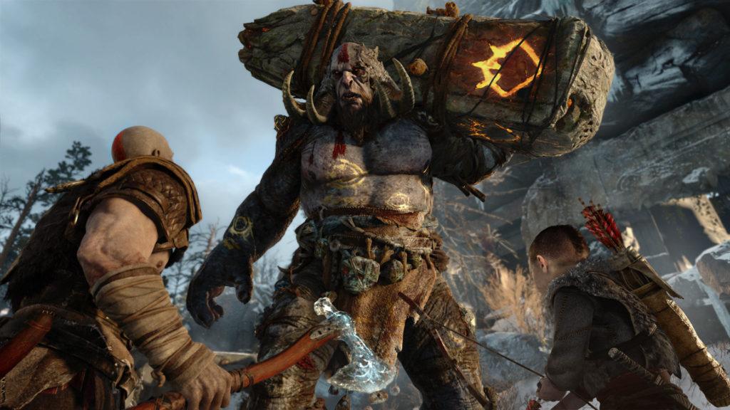God of War PS4 screenshot Kratos and son