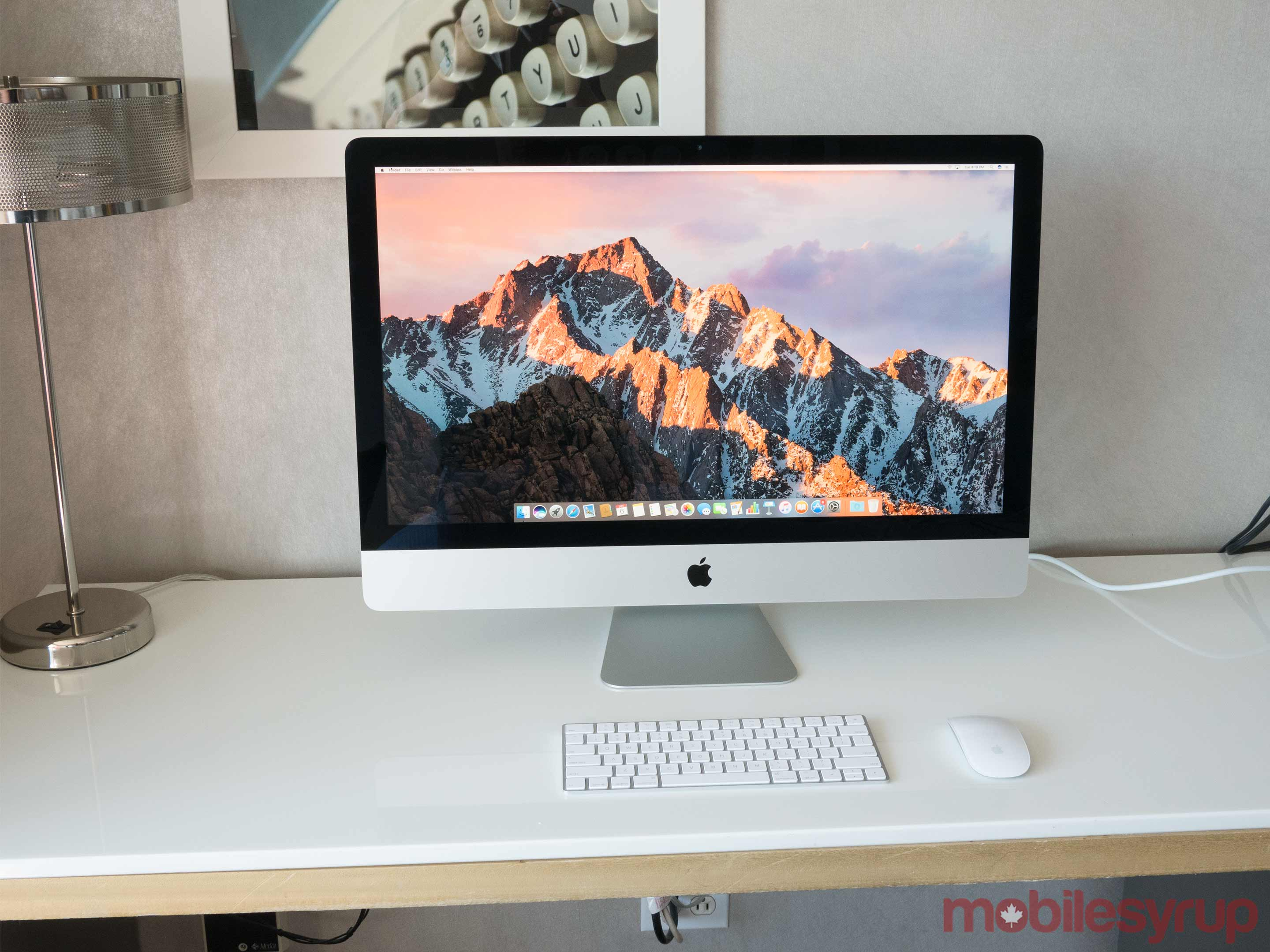 27-inch iMac on table