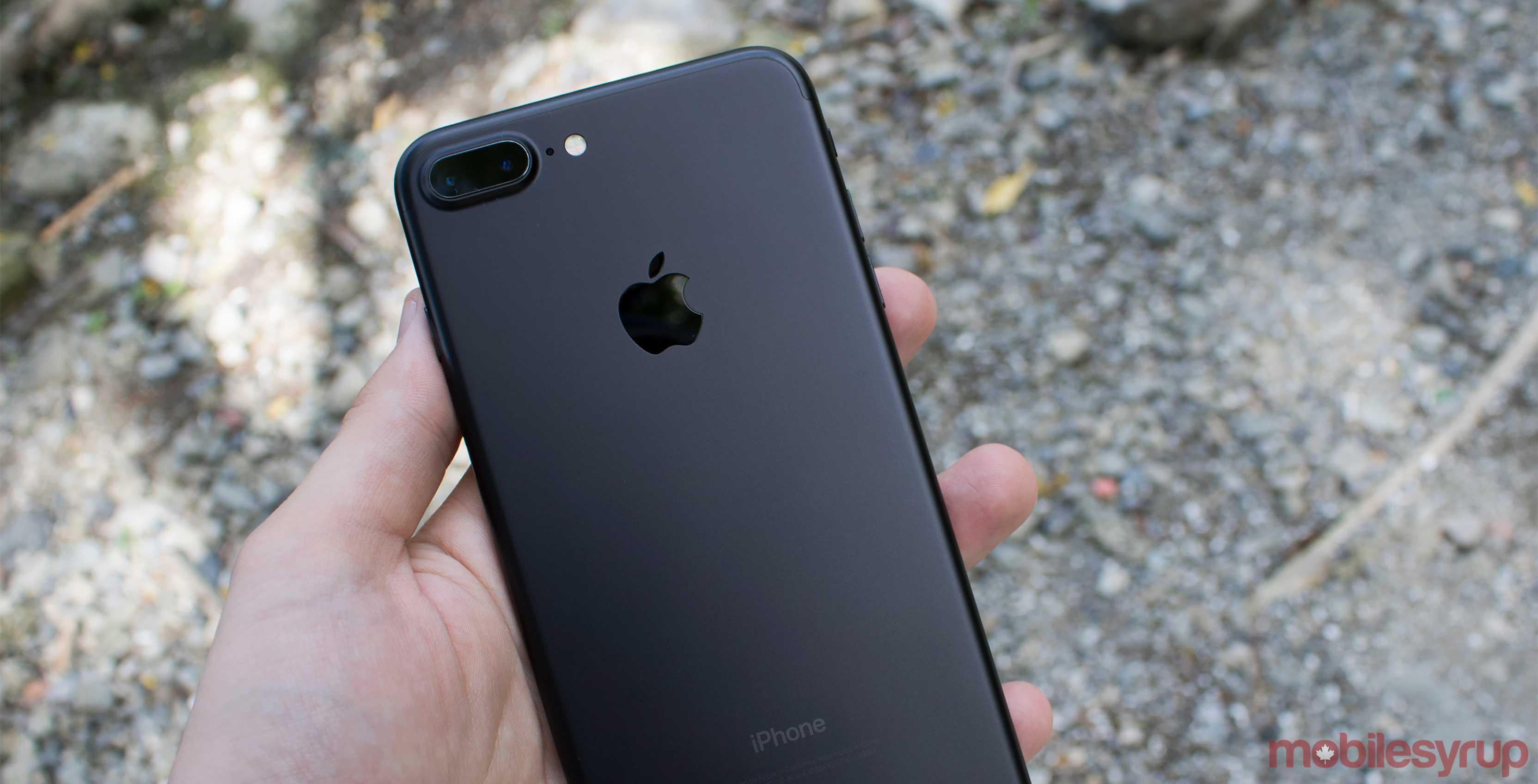 an iPhone 7 Plus smartphone