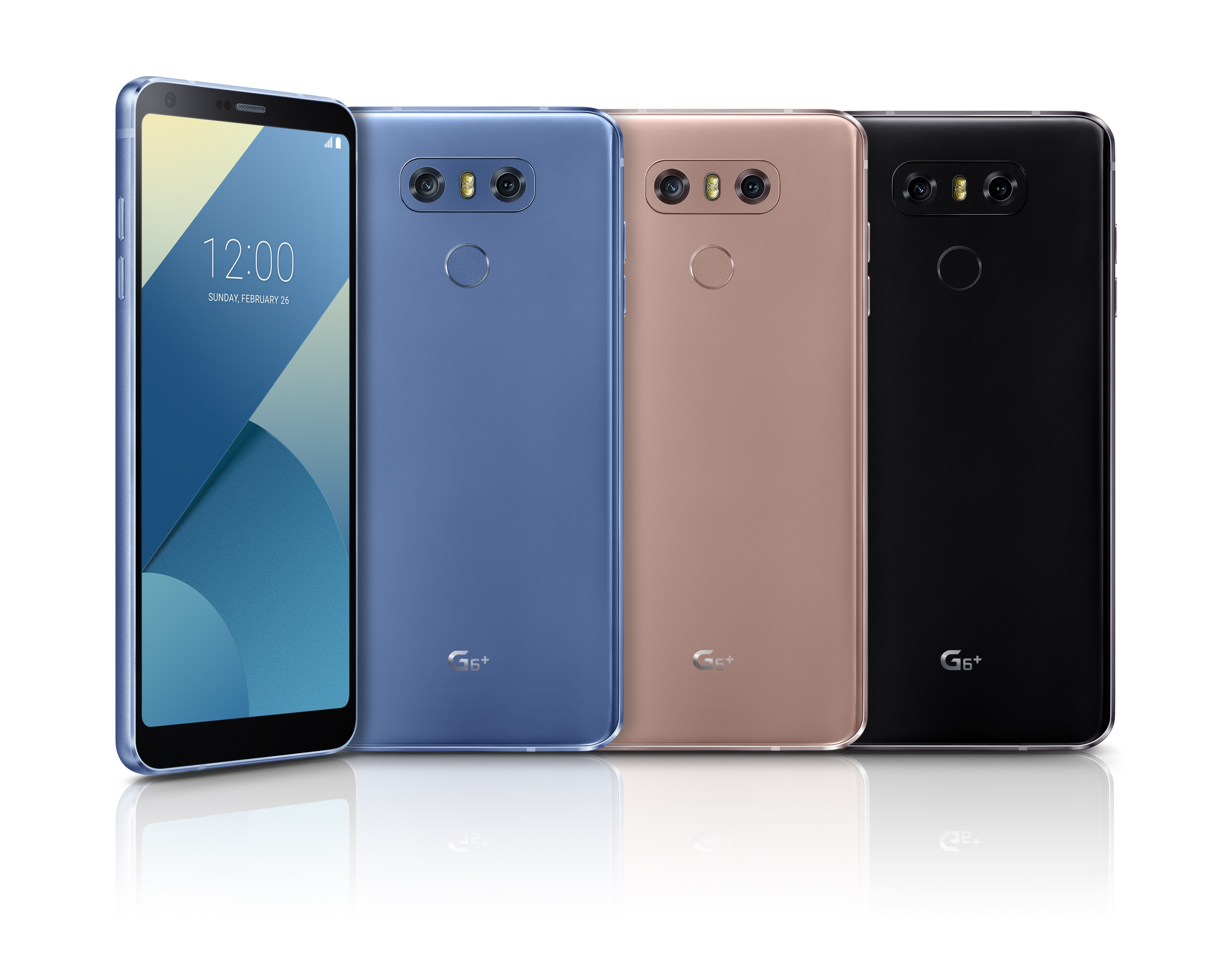 LG G6+ in blue, gold and black