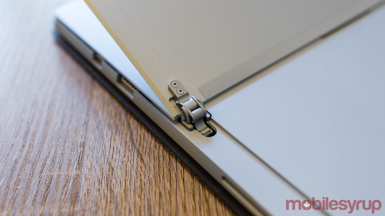 Microsoft Surface Pro hinge mechanism
