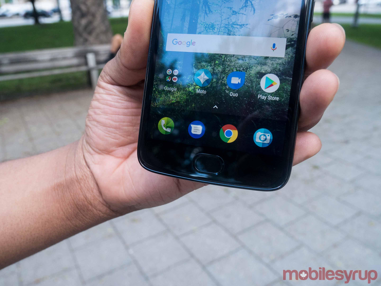 Moto E4 fingerprint scanner