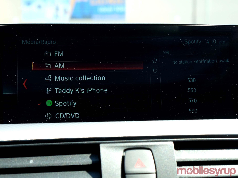 BMW Media menu