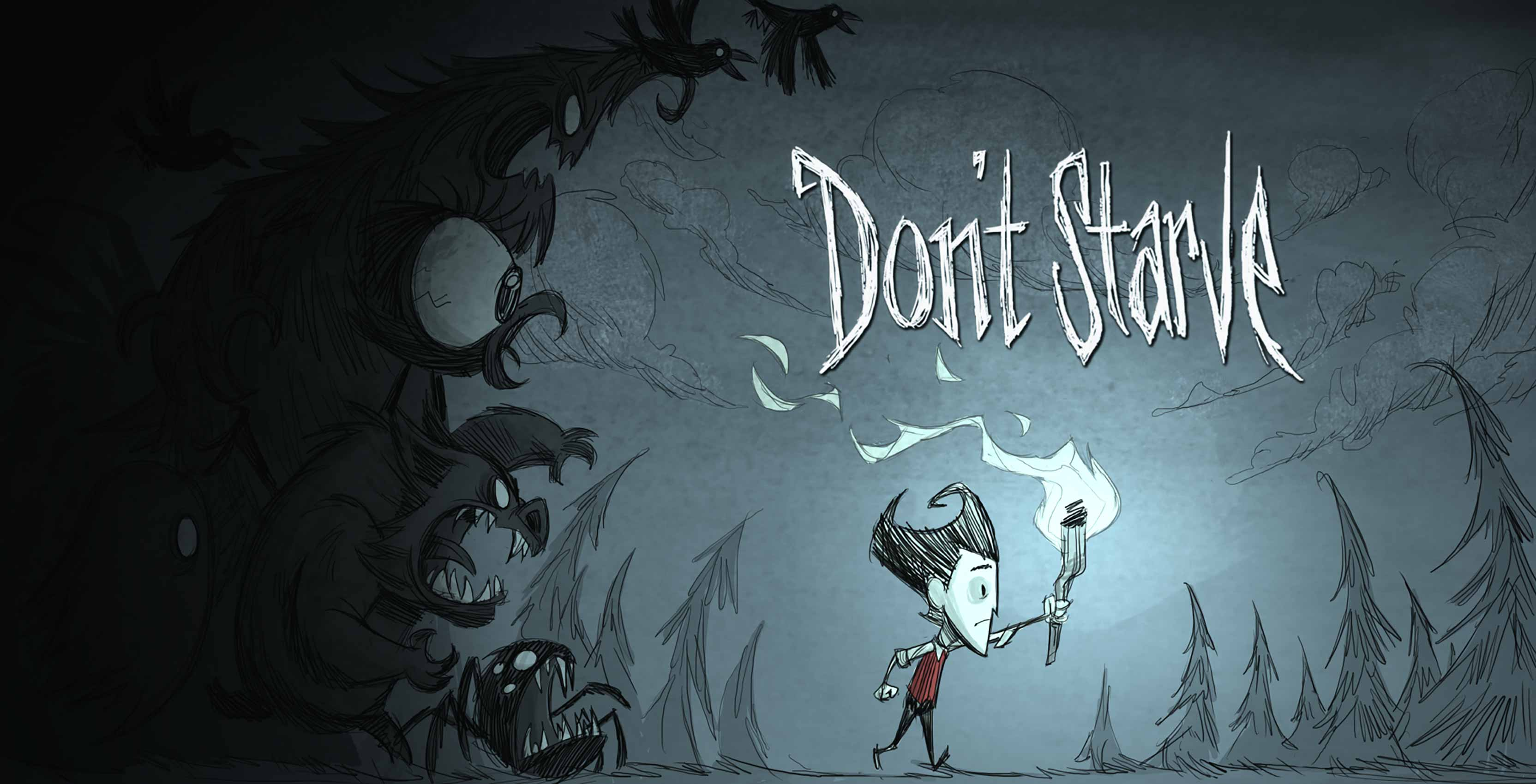 Don't Starve boy with torch