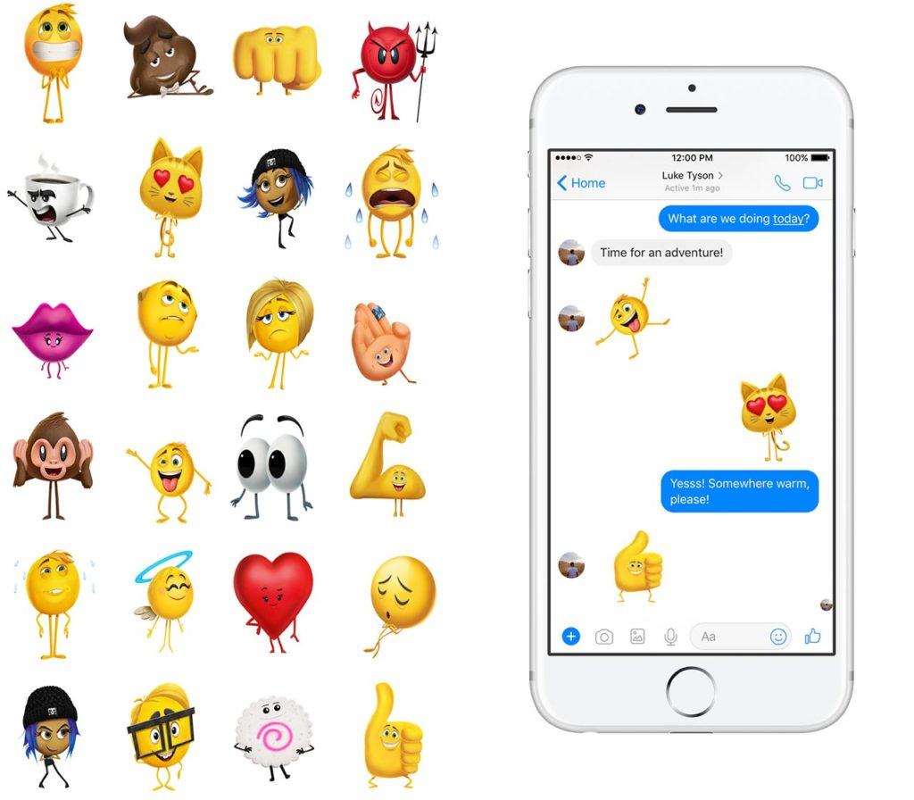 Emoji Movie Facebook stickers