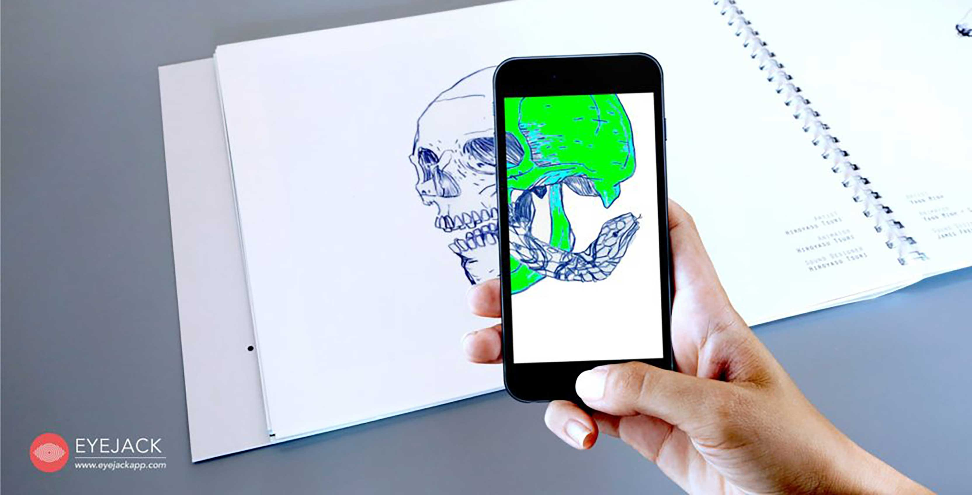 augmented reality artwork on phone