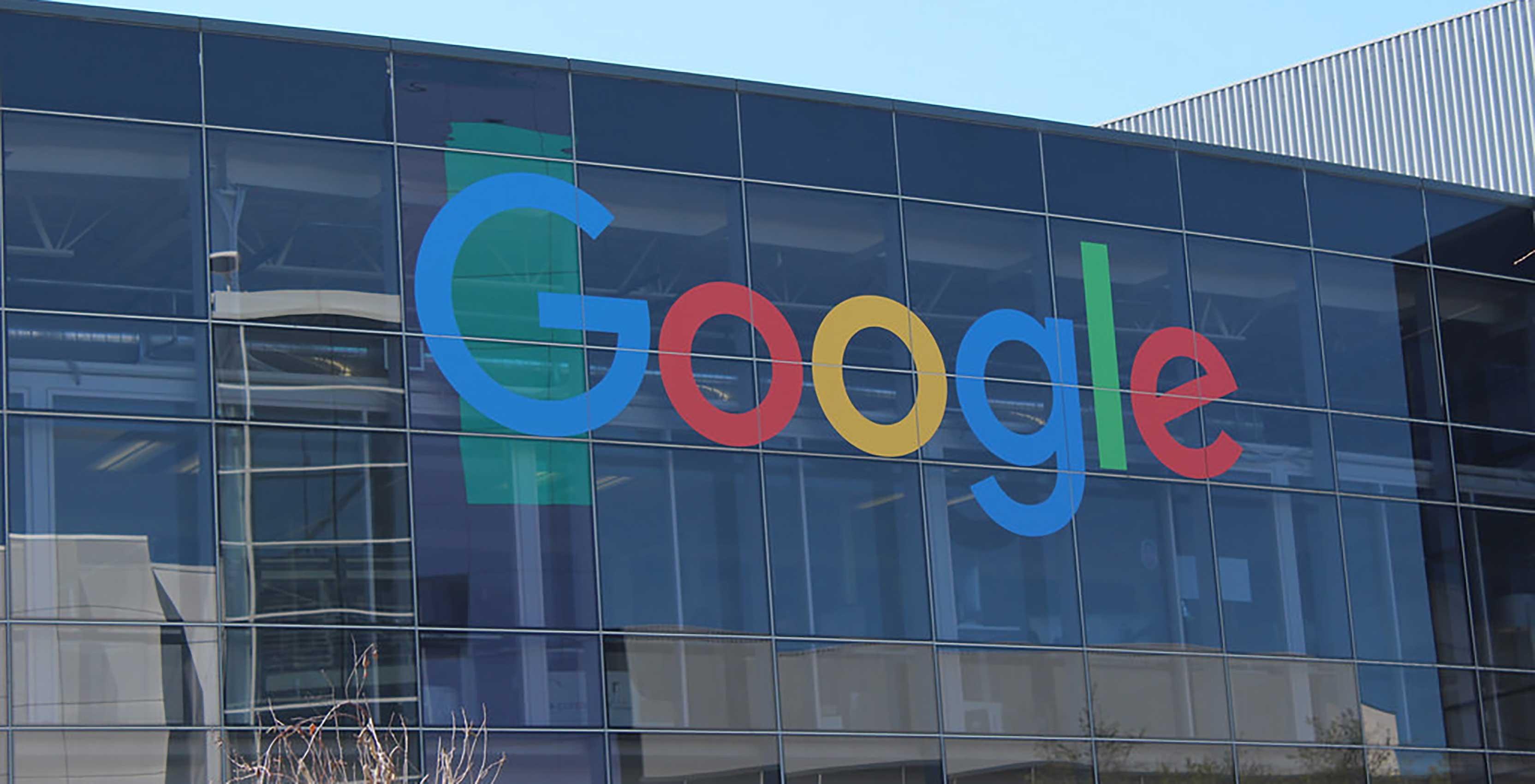 Google HQ logo on building