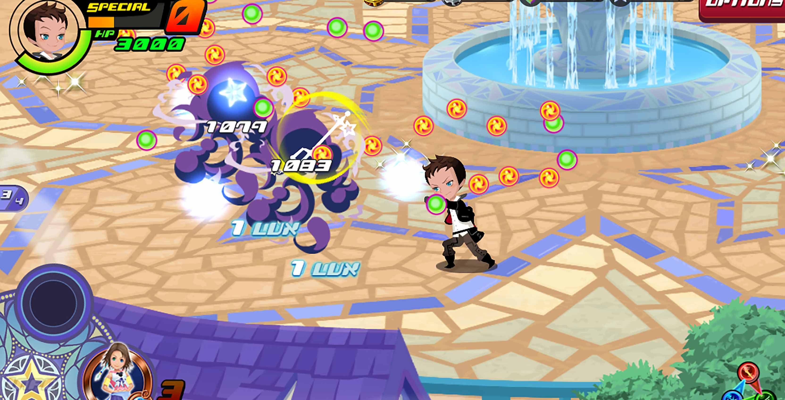 Kingdom Hearts Union X [Cross] combat