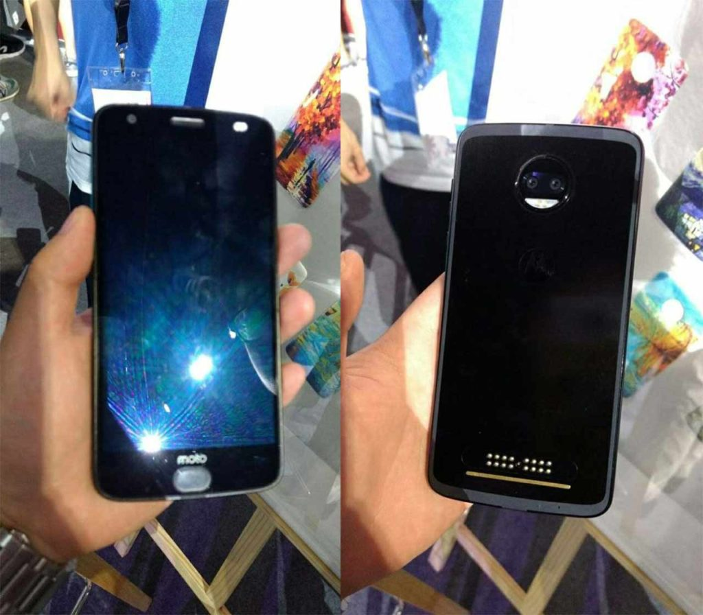 Moto Z2 Force leak front and back