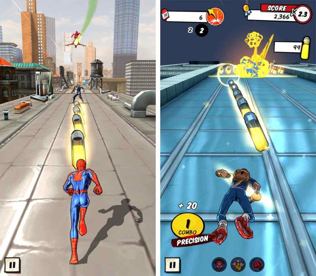 Spider-Man Unlimited traversal