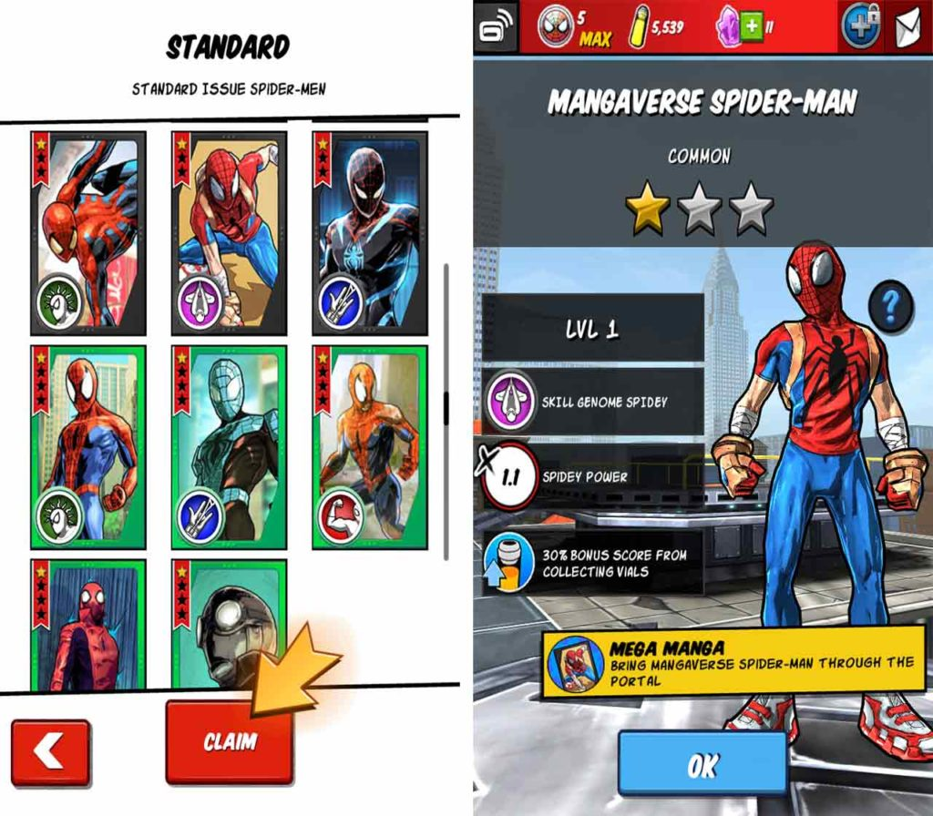 Spider-Man Unlimited unlock characters