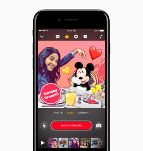 Apple Clips app Mickey Mouse
