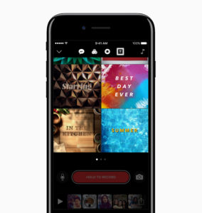 Apple Clips app new posters