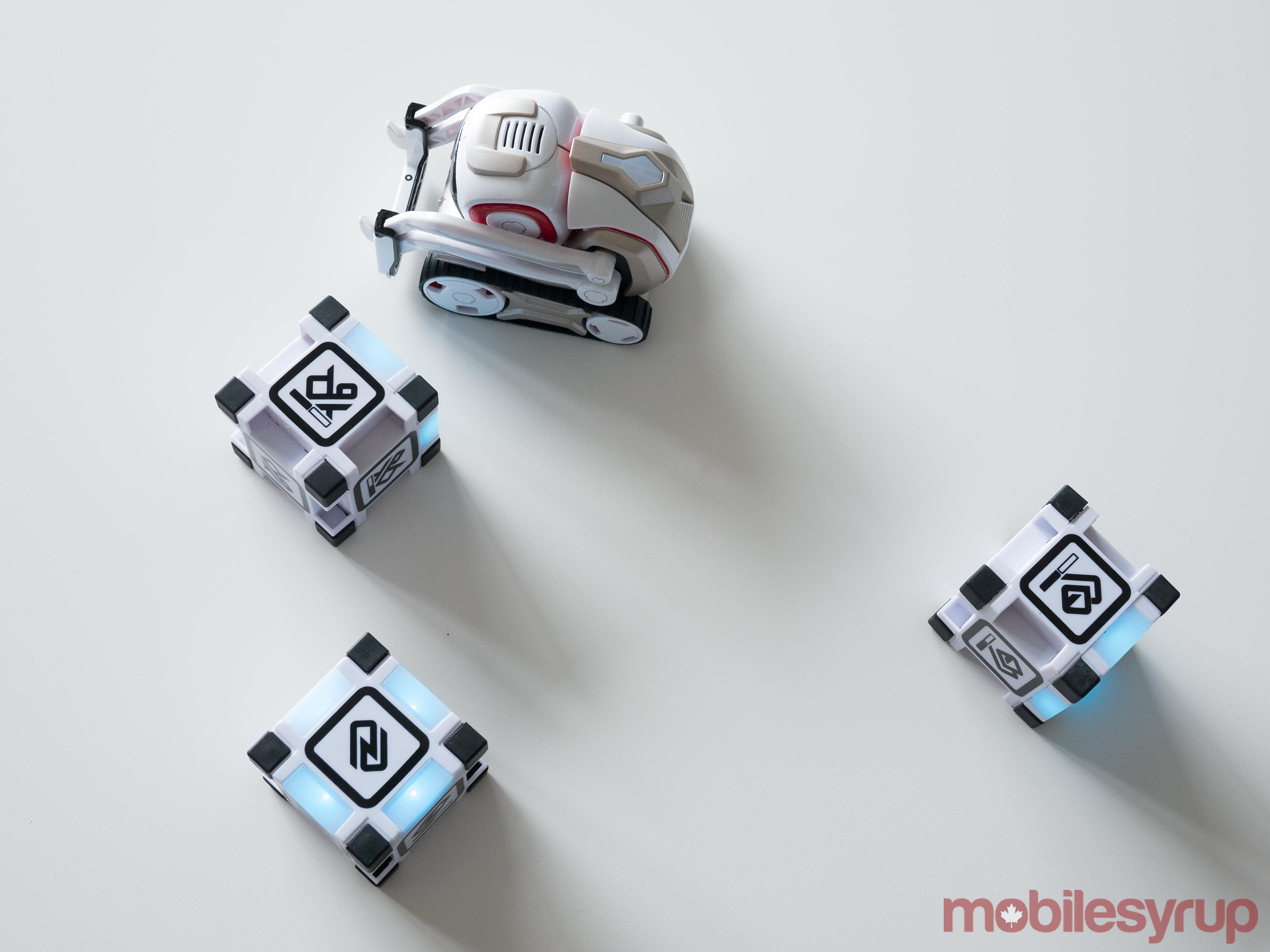 Cozmo playing with cubes