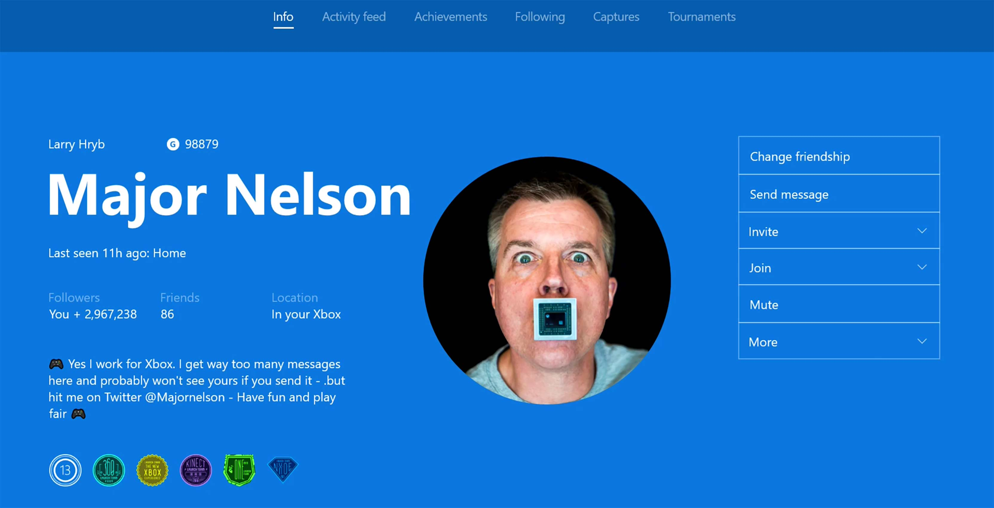 Xbox Gamerpics Major Nelson