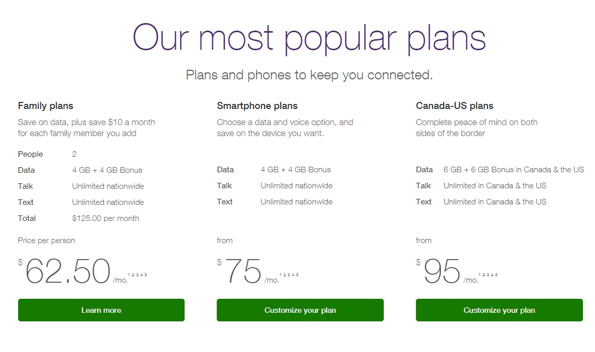 Teleus double data offer Quebec