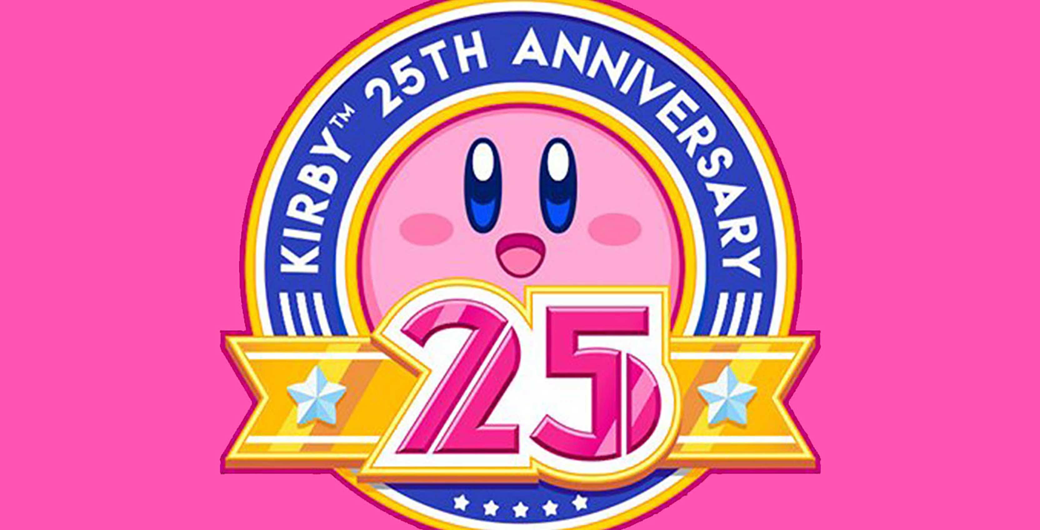 Kirby 25th anniversary banner