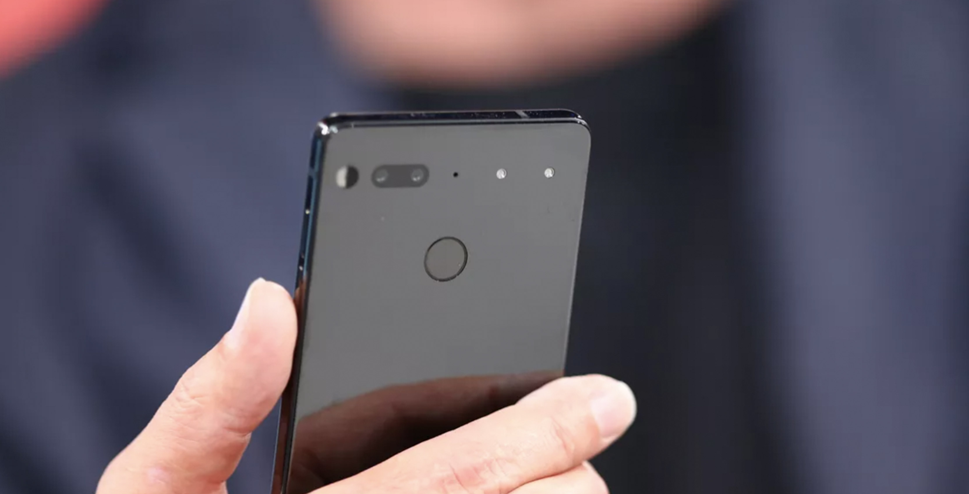 Essential phone in hand