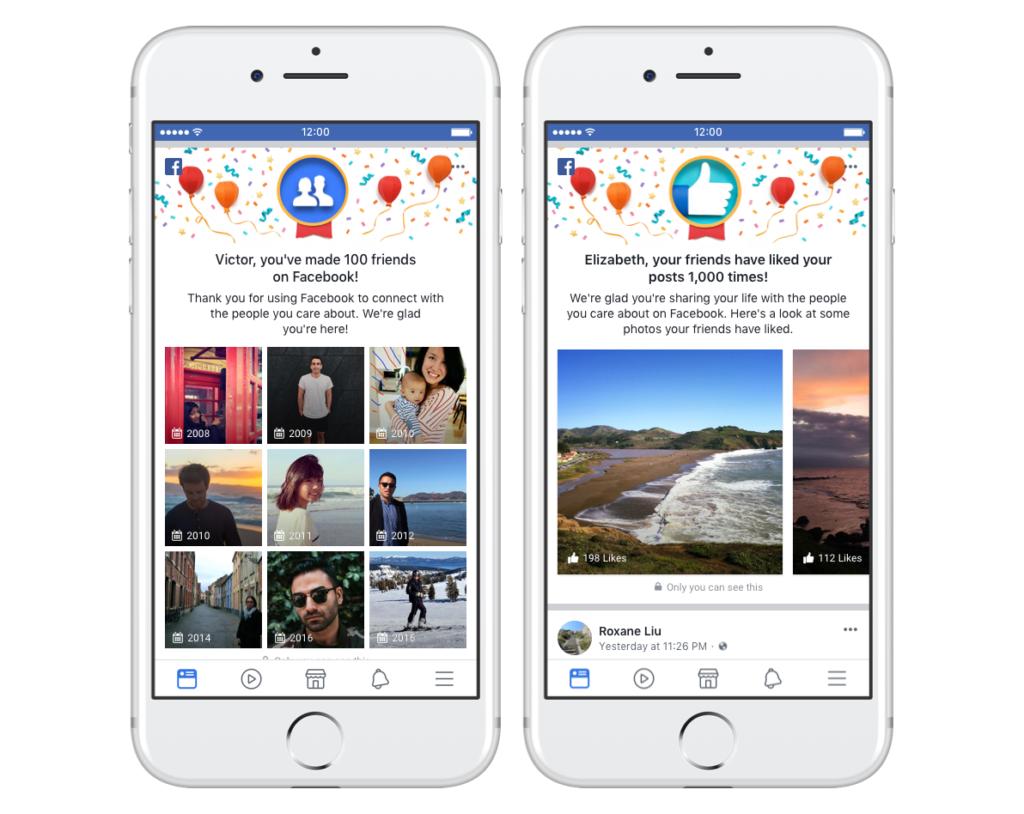 Facebook friend milestones