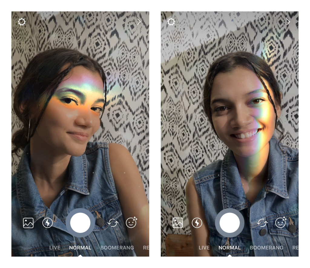 Instagram Rainbow filter