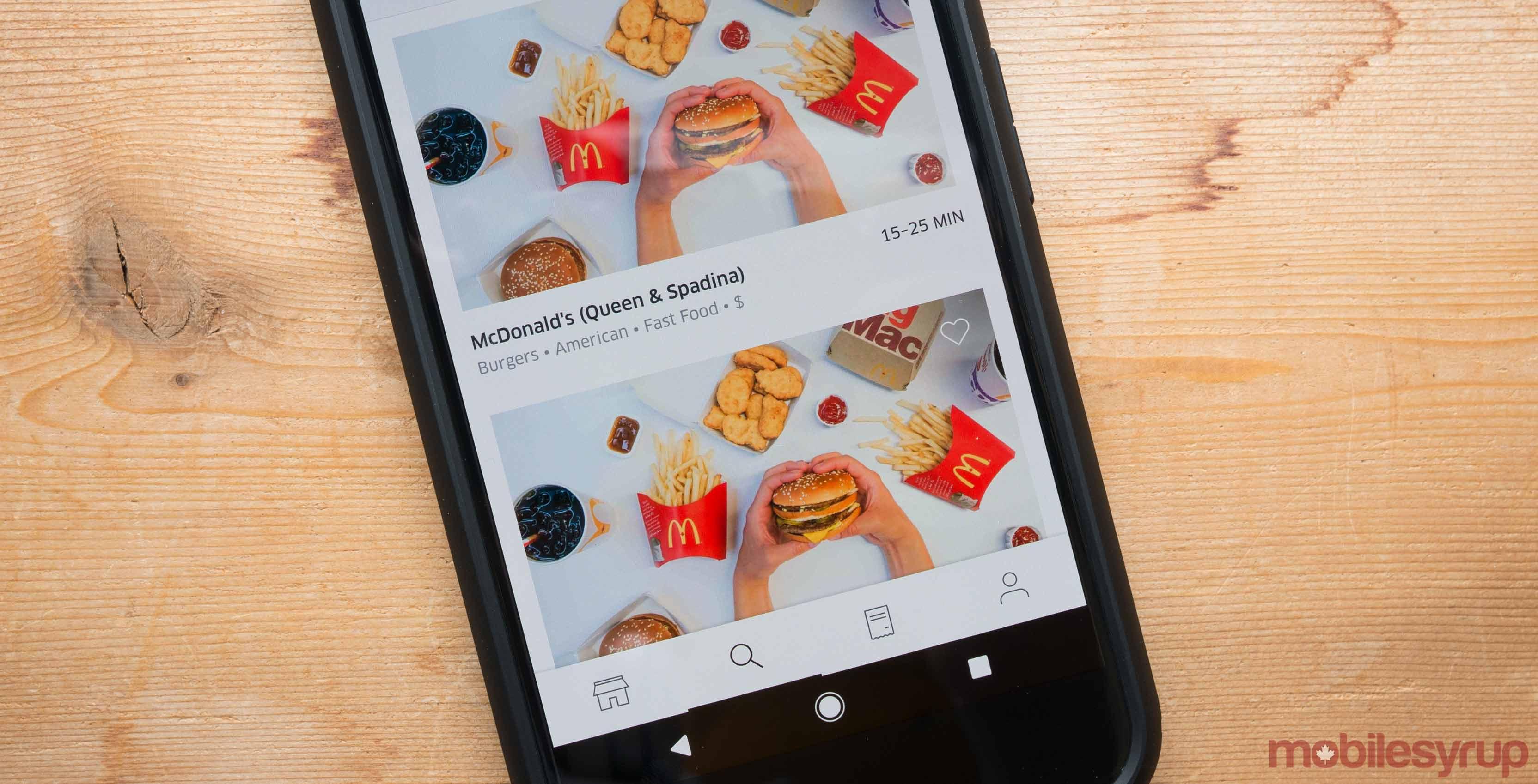McDonalds UberEATS