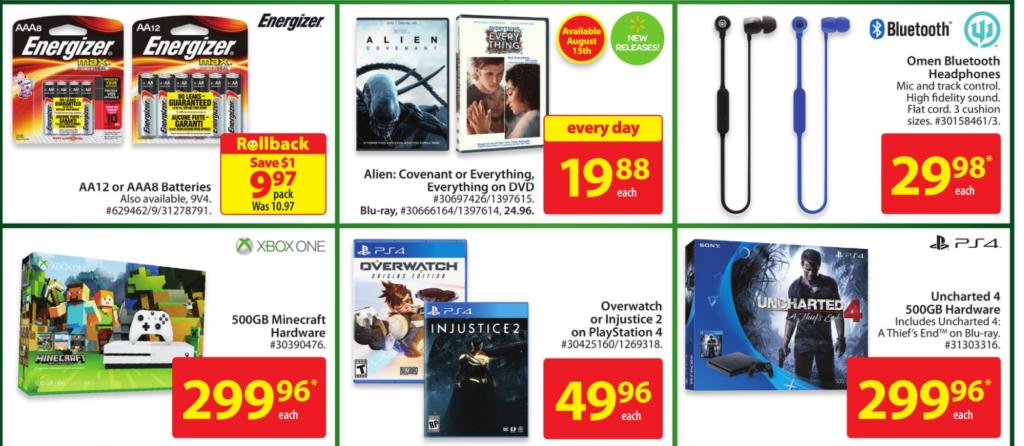 Walmart flyer PS4 sale