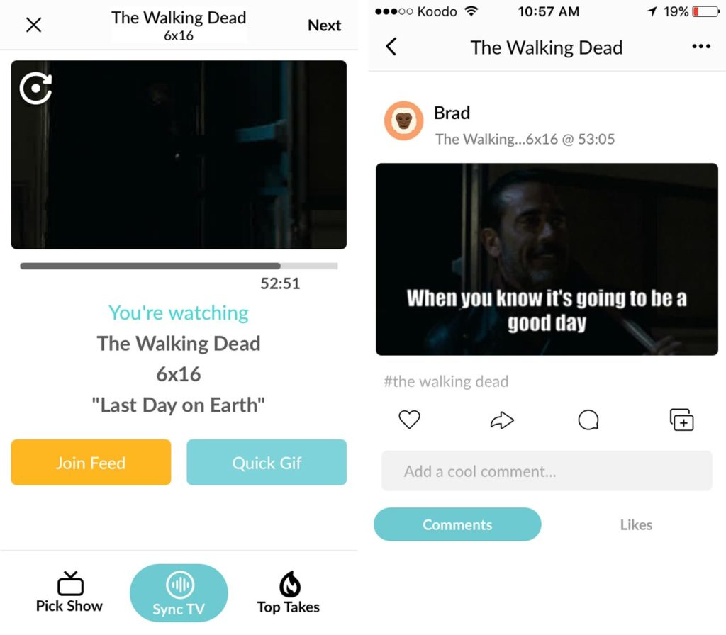 The Walking Dead Cooler app