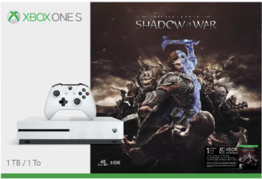 Xbox One S Shadow of War bundles