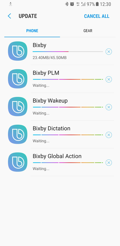 Bixby Voice updates