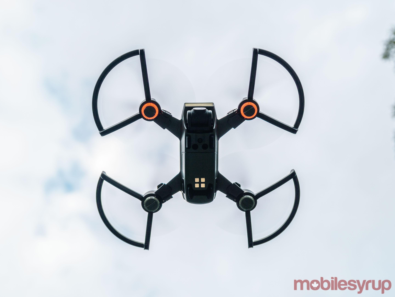 DJI Spark drone seen from below