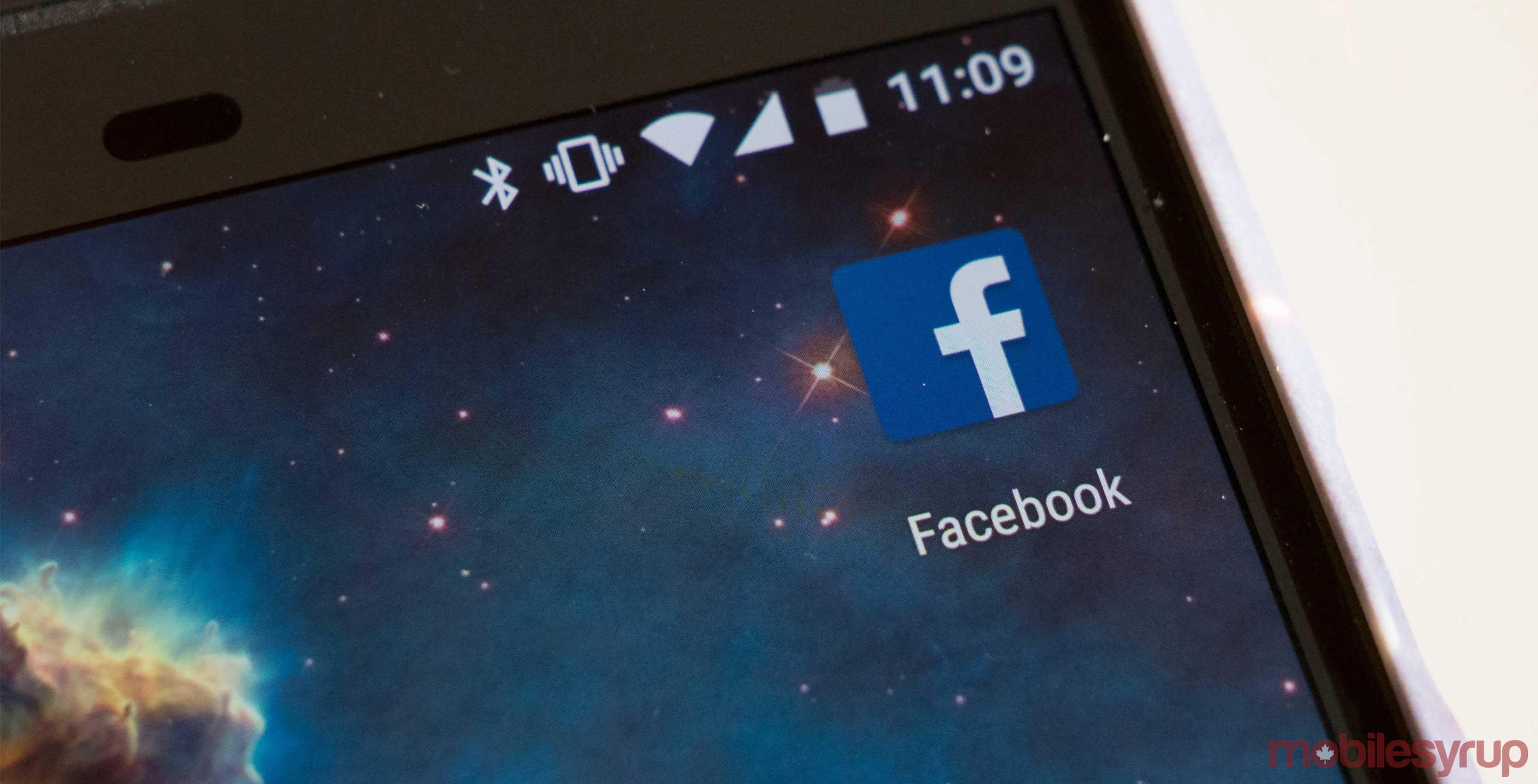 Facebook app on phone