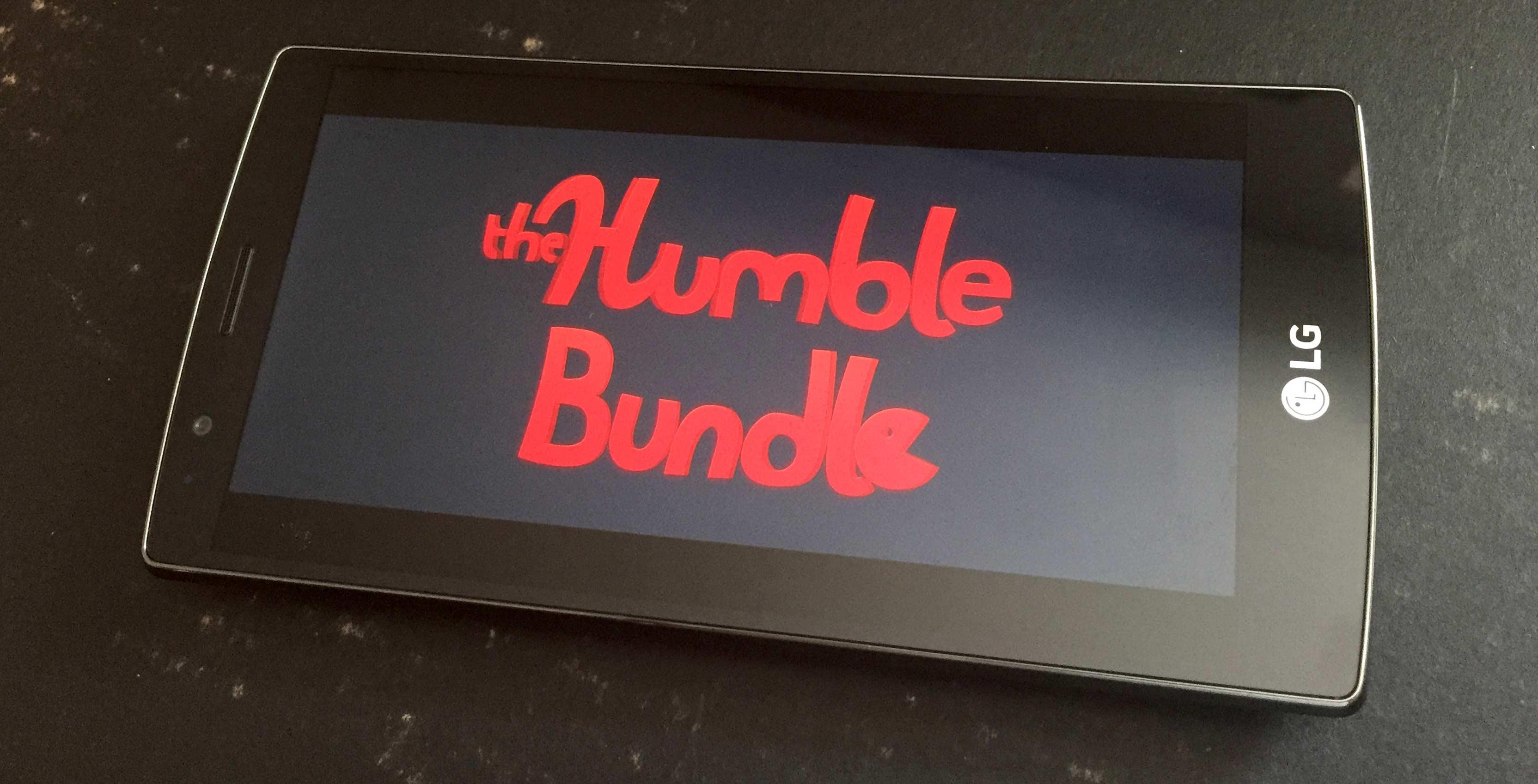 Humble Bundle on an LG phone