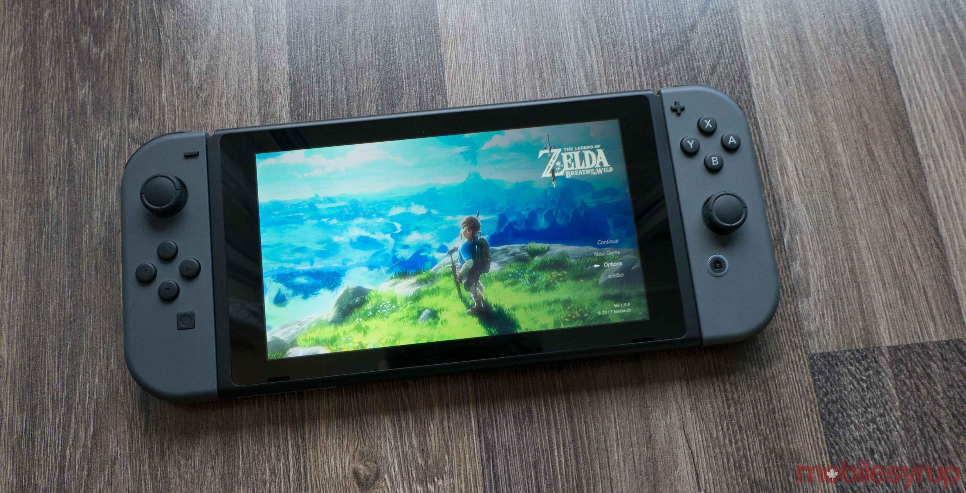 Nintendo Switch with Zelda
