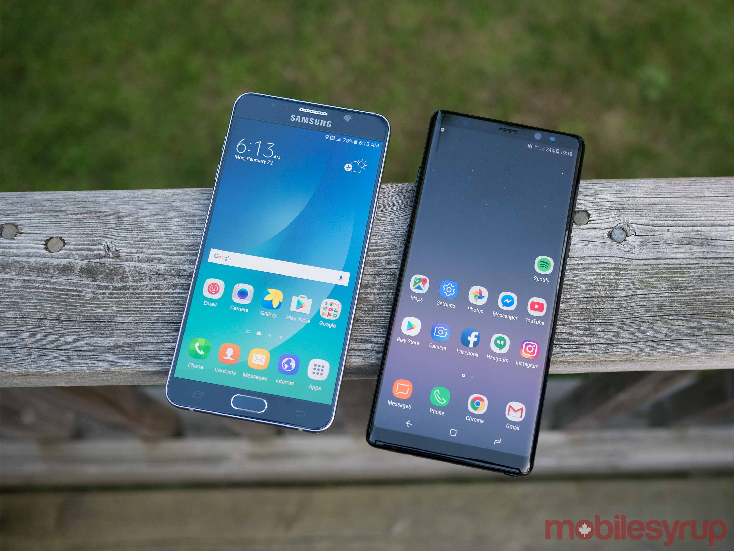 Note 5 vs Note 8