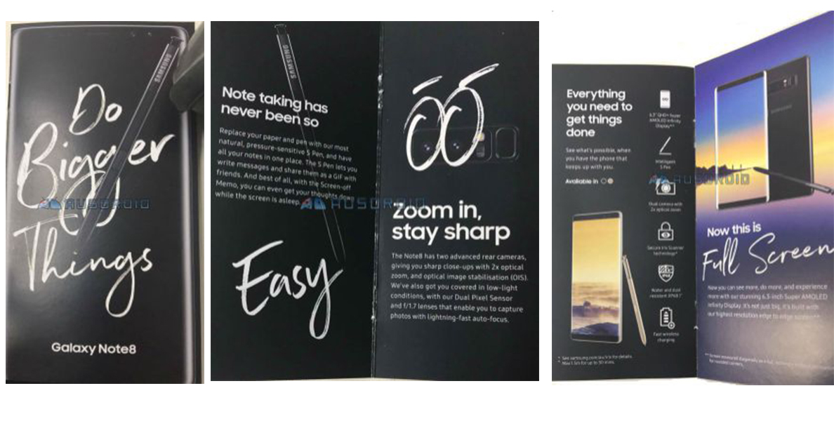 Samsung Note 8 brochure
