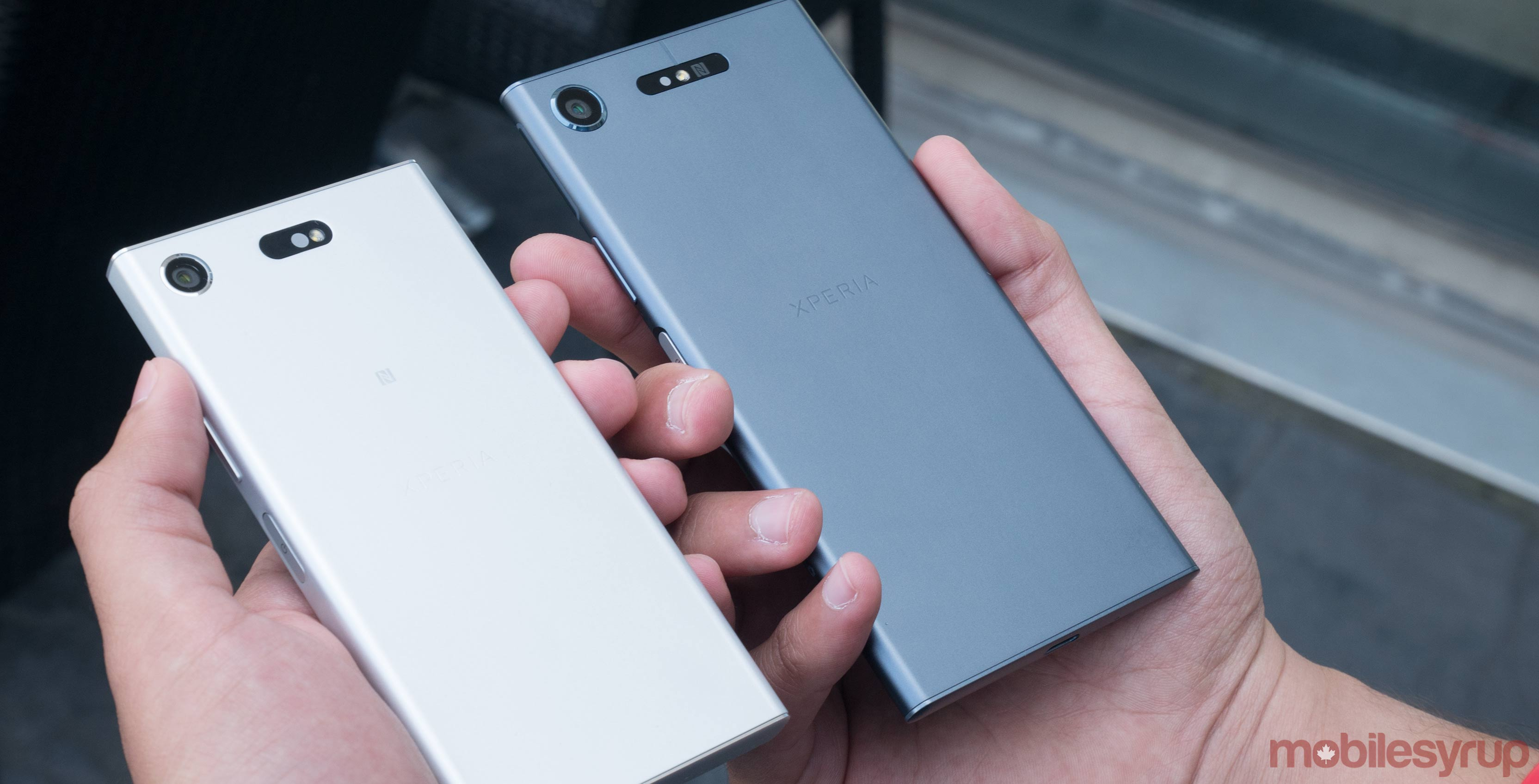 Sony Xperia XZ1 and XZ1 Compact side by side