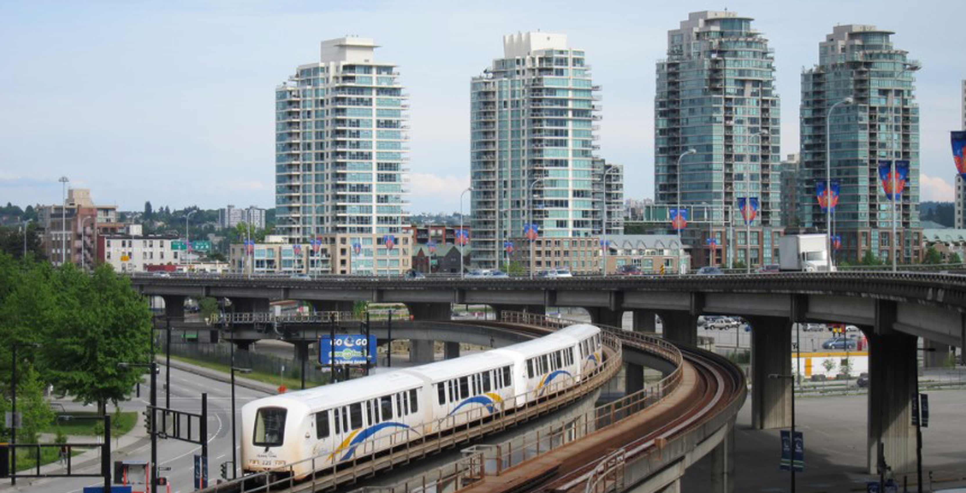 Shot of Vancouver SkyTrain