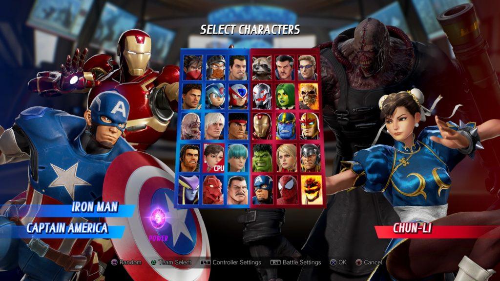 Marvel vs. Capcom Infinite roster